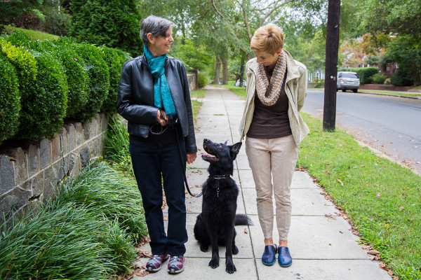 Mary Klein with her wife Stella Dawson at their home in Washington DC by Francis Ying_KHN