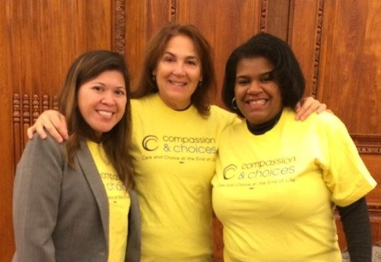 Charmaine Manansala, Gwen Fitzgerald and Donna Smith from Compassion & Choices