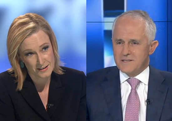 leigh sales and malcolm turnbull 7.30 report