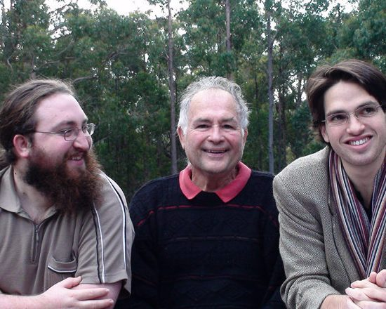 Robert Cordover with sons, Michael and Gideon before his death in 2009.