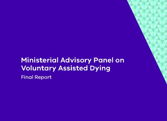 cover page cropped of Ministerial Advisory Panel on Voluntary Assisted Dying final report 210717